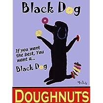 Ken Bailey – 黒犬のドーナツ ファインアート プリント (45.72 x 60.96 cm)