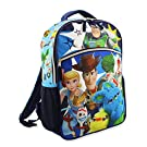 Disney Toy Story 4 Boy's Girl's 16 Inch School Backpack (One Size, Blue)