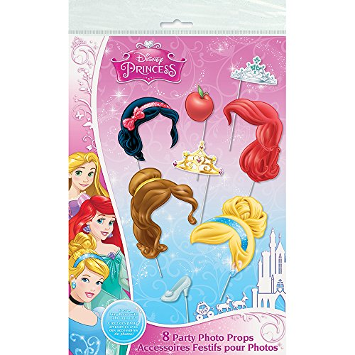 Disney Princess Photo Booth Props, 8pc