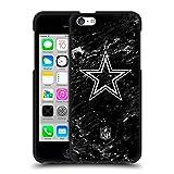 Head Case Designs Licenciado Oficialmente NFL Mármol Dallas Cowboys Artwork Funda de Gel Negro Compatible con Apple iPhone 5c