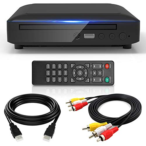 Ceihoit HD 1080P DVD Player for TV, Full HD DVD Player with HDMI AV Output Support Multiple Files Via USB