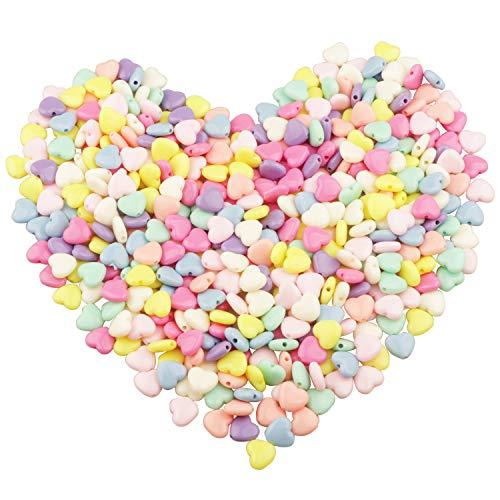 Yixuan Surtidos de Abalorios 450pcs 12mm Abalorios Artesanales Coloridas Pequeñas Abalorio de Acrílico Perlas de Plástico para la Fabricación de Joyas, Decoración del Hogar, Pulsera para Niños, Collar