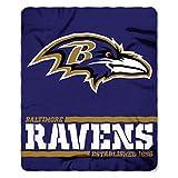 Northwest NFL Baltimore Ravens 50x60 Fleece Split Wide DesignBlanket, Team Colors, One Size
