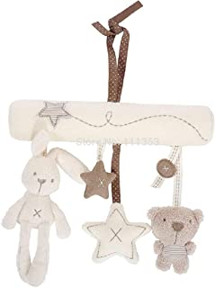 Baby Toys Stroller Rabbit Hanging Rattle Bunny Plush Musical Mobile by Other
