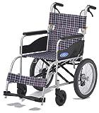 日進医療器 アルミ製車いす NEO-2 ノーパンクタイヤ 介助式 介助ブレーキ付き 軽量 車椅子 車イス