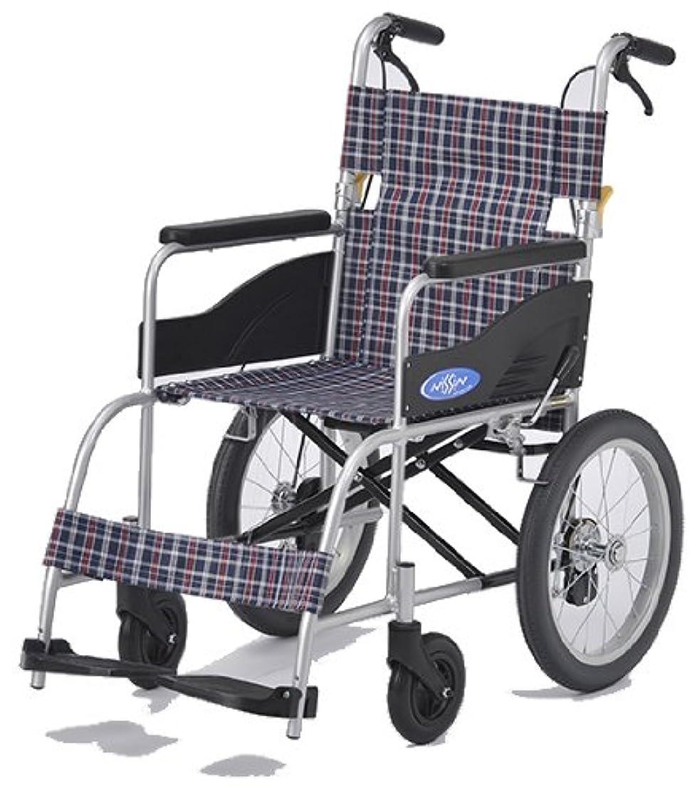 凍結天才以前は日進医療器 アルミ製車いす NEO-2 ノーパンクタイヤ 介助式 介助ブレーキ付き 軽量 車椅子 車イス