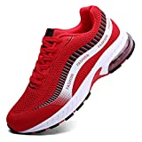 XIDISO Running Shoes Mens Women Air Trail Mesh Sneakers Athletic Walking Cross Training Tennis Sports Shoe for Men Red