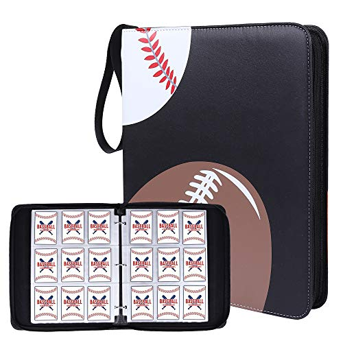NeatoTek Double Sided 40 Pages 720 Pockets Sport Card Binder for Sport Trading Cards, Display Case with Sport Card Sleeves Card Holder Protectors Set for Baseball Football and Basketball Cards