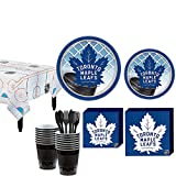 Party City Toronto Maple Leafs Party Kit for 16 Guests, Includes Table Cover, Plates, Napkins and More
