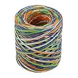 Cinta de papel multicolor de la rafia de los 200m, guita de embalaje de la cinta de la cadena de papel para el embalaje del regalo, decoraciones del arte de DIY
