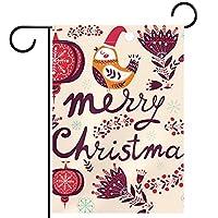 ガーデンヤードフラッグ両面 /28x40in/ ポリエステルウェルカムハウス旗バナー,メリークリスマスの鳥