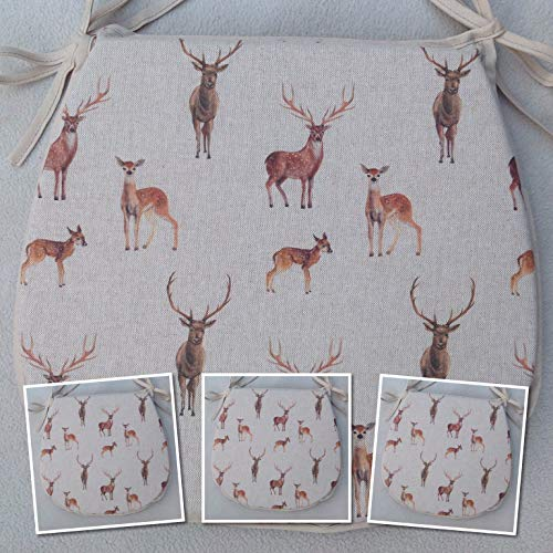 For Seats Approx.14 Wide X 14 Deep SET OF 4 NEW WORLD TAPESTRY RANGE FABRIC TIE ON CHAIR SEAT PADS ROOSTER//FARMYARD PATTERN