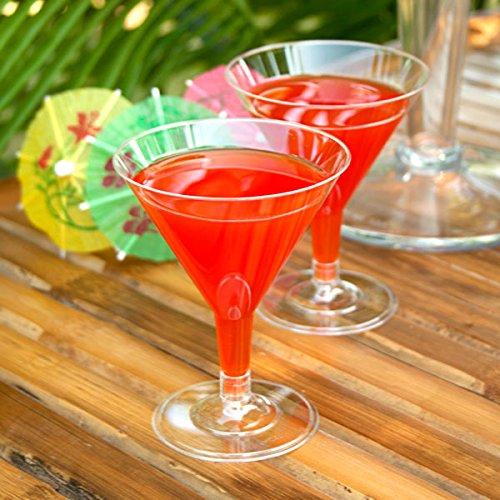 12 copas de Martini desechables de plástico transparente de 150 ml