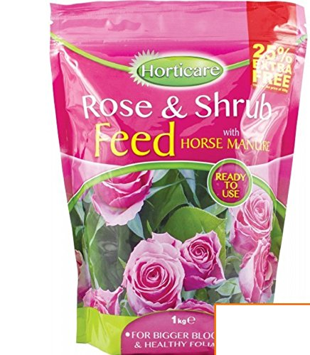 3 IN 1 ROSE & SHRUB FLOWERS GARDEN FEEDING FOOD WITH HORSE MANURE 1KG