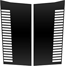 Auto Vynamics - JEP-301-VENTS-MBLA - Matte Black Vinyl Hood Decal Kit - Vents Design - Jeep Grand Cherokee ZJ - Mirrored Pair - (2) Piece Complete Kit