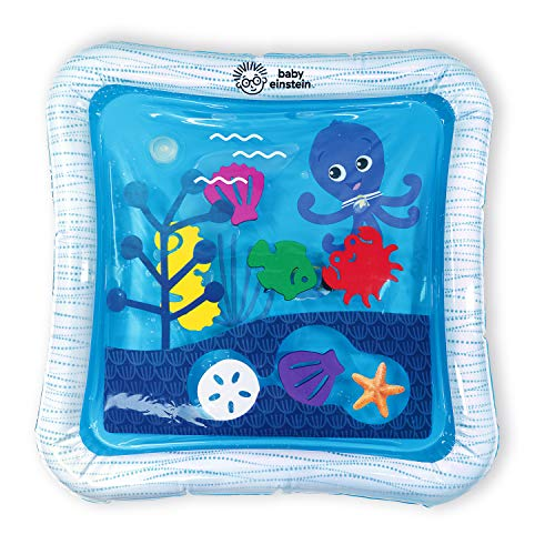 Baby Einstein 12628 - Baby Einstein, Alfombra Inflable con Agua Ocean of Discovery, Con 6 Animales Flotantes, Ideal Para Jugar Boca Abajo, unisex
