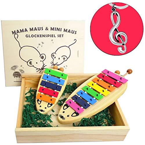 Sonor MaMa & Mini Maus Glockenspiel Set + keepdrum Violinschlüssel-Anhänger