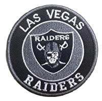 """Antrix Round Patch of NFL Football LAS Vegas/Oakland Raiders Logo Sign Patch Hook and Loop Tactical Military Morale Patch for Backpacks Caps Jersey Vests Uniform -Dia 3.15"""" (Raiders)"""
