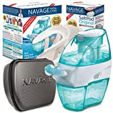 Navage Nasal Care Deluxe Bundle: Naväge Nose Cleaner, 50 SaltPod Capsules, Countertop Caddy, and Travel Case. 164.85 if Purchased Separately. You Save 49.90 (Black). for Improved Nasal Hygiene