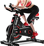 Exercise Bikes Upright(Indoor Studio Cycles)  Studio Quality with Heart Rate Monitor, Belt Drive, Infinite Resistance, LCD Displays, Hand Pulse