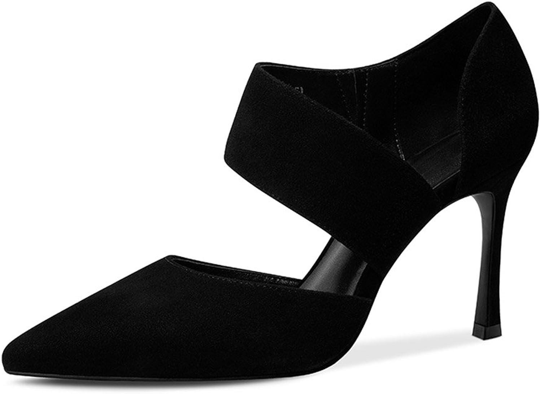 JIANXIN Damen Frühjahr und Sommer Einzigen Schuh Einfache Leder Wies Wies High Heel Stilettos und Sexy Flache Mund Schuhe. (Größe   36)  bis zu 70% Rabatt