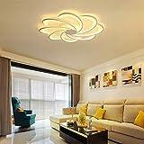 5151BuyWorld Lamp Fleurs LED Plafond Créatif Moderne LED Lumières Simples Lampes Pour Salon Chambre Luminaria LED Plafonniers Qualité Supérieure {Blanc Chaud & 9 Têtes Dia120CM}