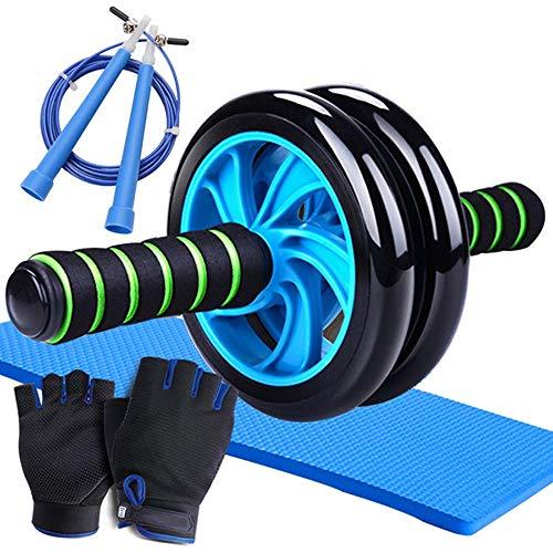 ALXLX 4-in-1-Ab-Rad-Rollensatz AB-Roller Mit Push-Up-Stange, Springseil Und Knieschoner Ab Trainer Für Heimtrainer