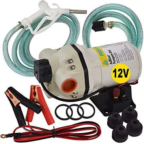 AdBlue®-PUMPEN SET HARNSTOFF-PUMPE, Chemikalien-Pumpe, mit Saug- und Druckschlauch, Zapf-Pistole und Zubehör, mit KUPFERWICKLUNG, JETZT MIT EXTRA-Ersparnis! Elektrische pumpe für DIESEL Fasspumpe
