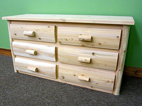 Midwest Log Furniture - Premium Log Dresser - 6 Drawer