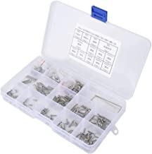 Tiamu 330Pcs Filetage Femelle /éCrous Molet/éS M2 M3 M4 M5 en Laiton Filet/é Insert Ronde Moulage par Injection /éCrous Molet/éS Assortiment Kit
