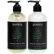 Puracy Hand Soap & Lotion Set, Balsam Fir, Natural & Organic Fraser Pine Aromas, 12-Ounce (2-Pack)