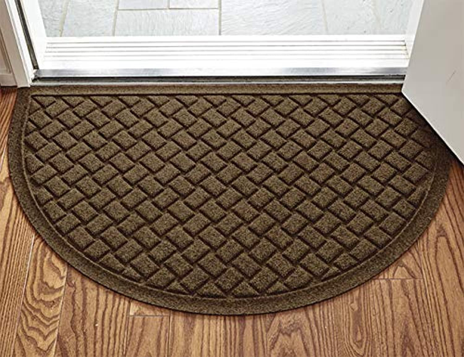 Orvis Basketweave Water Trapper Mat Halfmoon 2' X 3'3 , Dark Brown