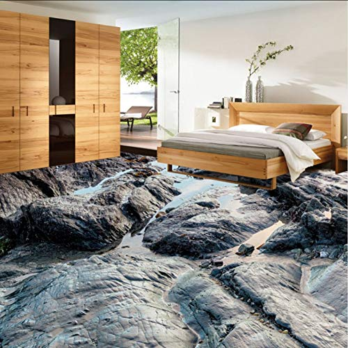 Wuyii Hd steen water vloeiend 3D woonkamer badkamer etage waterdicht vocht slaapkamer keuken vloerbedekking wandbekleding 280 x 200 cm