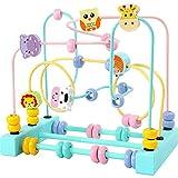 Juego mental Laberinto del grano de la montaña rusa Actividad Cube Educación Abacus Beads regalos de los juguetes infantiles de colores Actividad Juegos Niño Niños ( Color : Blue , Size : Free size )