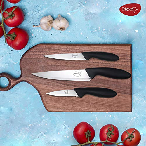 Pigeon Stainless Steel Kitchen Knives Set, 3-Pieces, Multicolor
