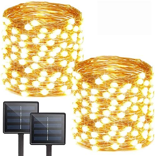 Albelt 2 Pack Each 72ft 200 LED Solar Lights Outdoor String Ultra Bright Extra Long Upgraded product image