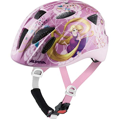 ALPINA Unisex - Kinder, ROCKY Fahrradhelm, Disney Rapunzel, 47-52 cm
