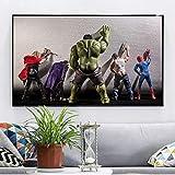 Leinwand Malerei Avengers Movie Hulk Superhelden in der