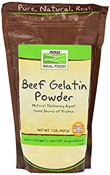 Now Foods Beef Gelatin Natural Powder 1 lb  Pack of 2