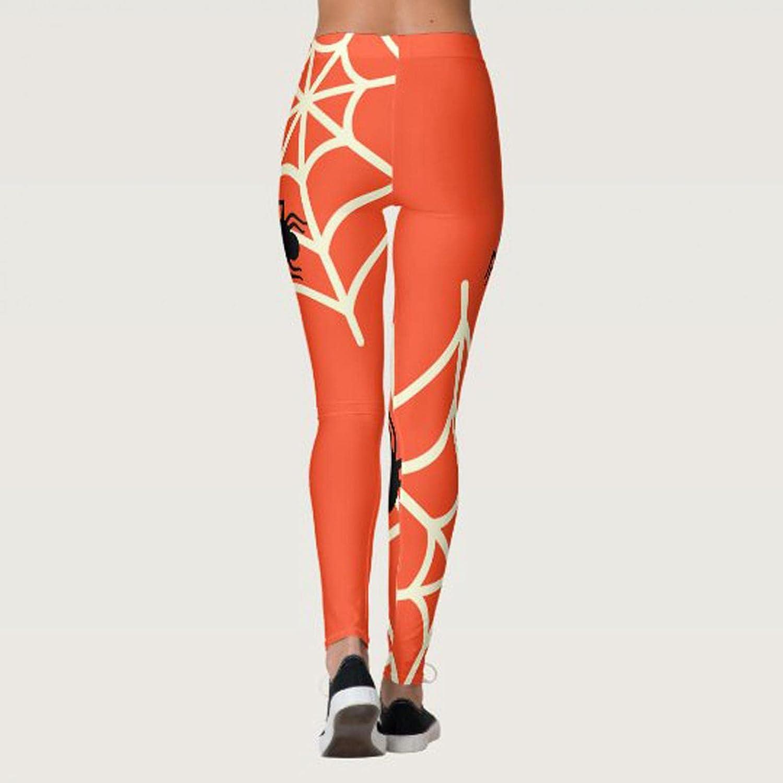 Women's Yoga Pants Halloween Christmas Print Tummy Control Workout Running 4 Way Stretch Butt Lift Yoga Leggings