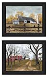 Trendy Decor4U Country Roads Collection By Billy Jacobs Printed Wall Art, 38 Inch x 15 Inch, 2 Piece