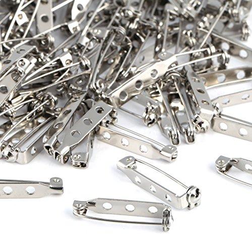 Kesote 200 Pezzi di Spille da Balia Spille Posteriori di Gioiello Spille Metalliche di 25 mm Pins di Sicurezza per Fai da Te