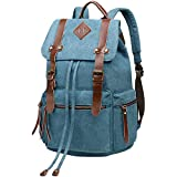 BeautyWill Vintage Canvas Backpack Rucksack Casual...