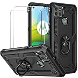 BestShare For Moto G9 Power Case with Tempered Glass Screen
