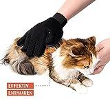 TRUE PET – Fellpflegehandschuh für Hund, Katze & Hase – Enthaaren, Baden & Massieren | Fellbürste für sensible Haut | Hundebürste & Katzenbürste für Mittel- & Kurzhaar | Fellkamm Striegel - 5