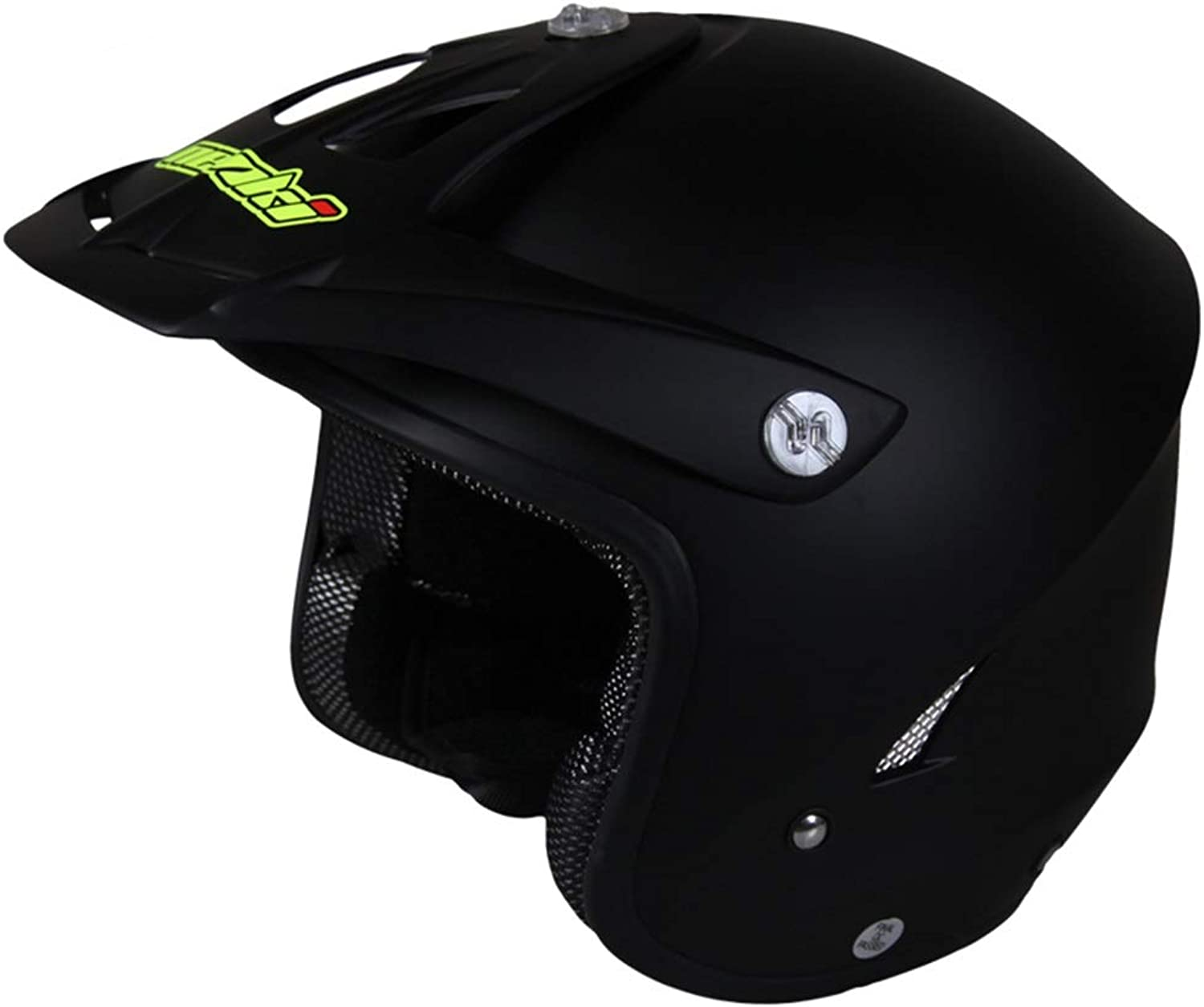 Lanbinxiang@ ABS Material Motorcycle Simple Helmet Climbing OffRoad Summer Helmet Outdoor Riding Sports Personality Men and Women Harley Half Helmet Four Seasons Predection