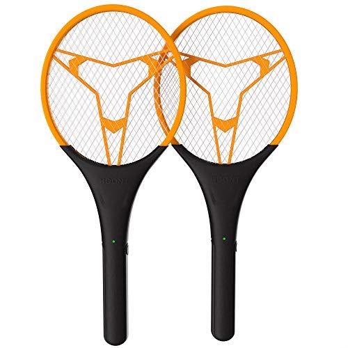 Hoont Bug Zapper Racket- 2 Pack Electric Fly Swatter | Large Handheld Indoor
