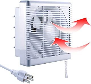 SAILFLO Exhaust Shutter Fan 8 Inch 300 CFM, 2 Direction Reversible Strong Airflow Ventilation Blower for Bathroom Attic Kitchen Window Basement, 8