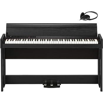 KORG電子ピアノ C1 Air ウッデン・ブラック ヘッドホン付属 演奏記録機能付き ペダル付属 同音連打可能