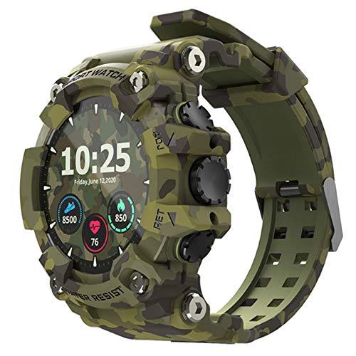 WPH Ataque Reloj Deportivo Inteligente con Bluetooth, Monitor De Frecuencia Cardíaca, Resistente Al Agua, Apto para Android E iOS,A
